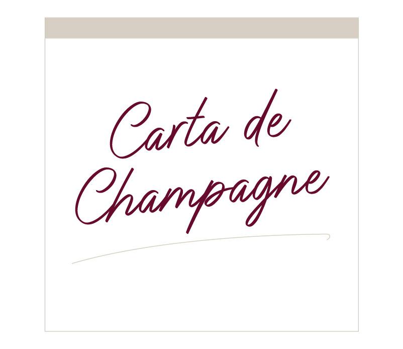Lile Menu Champagne
